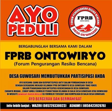 Ayo bergabung di FPRB ONTOWIRYO