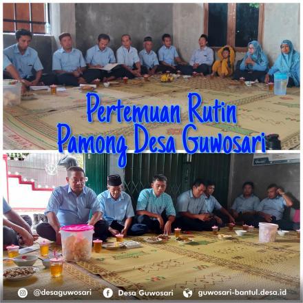 Pertemuan Rutin Pamong Desa Guwosari Di Dusun Kembangputihan