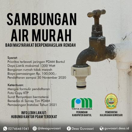 SAMBUNGAN AIR PDAM MURAH